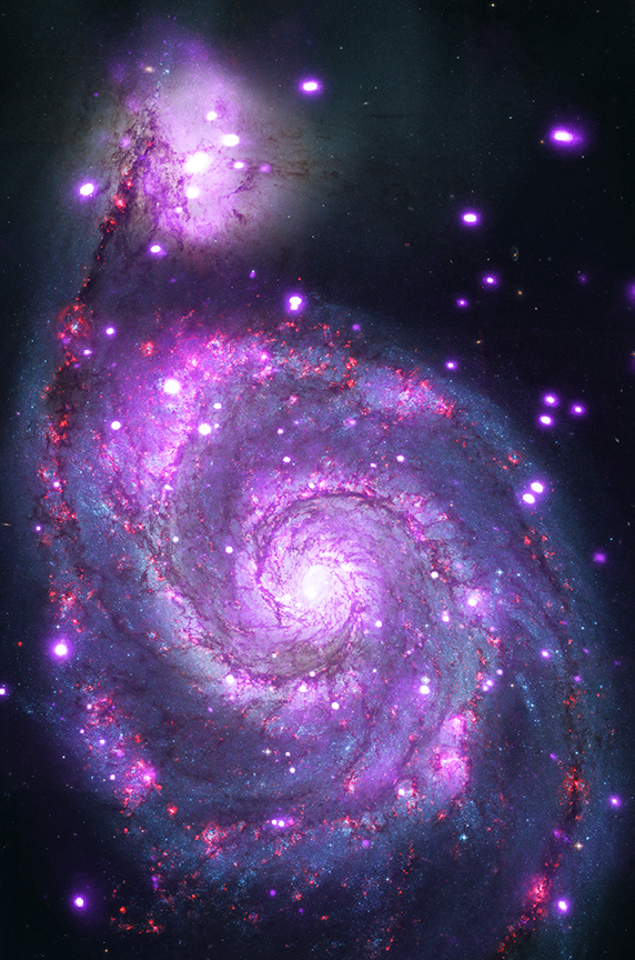 A spiral galaxy located about 30 million light years from Earth.