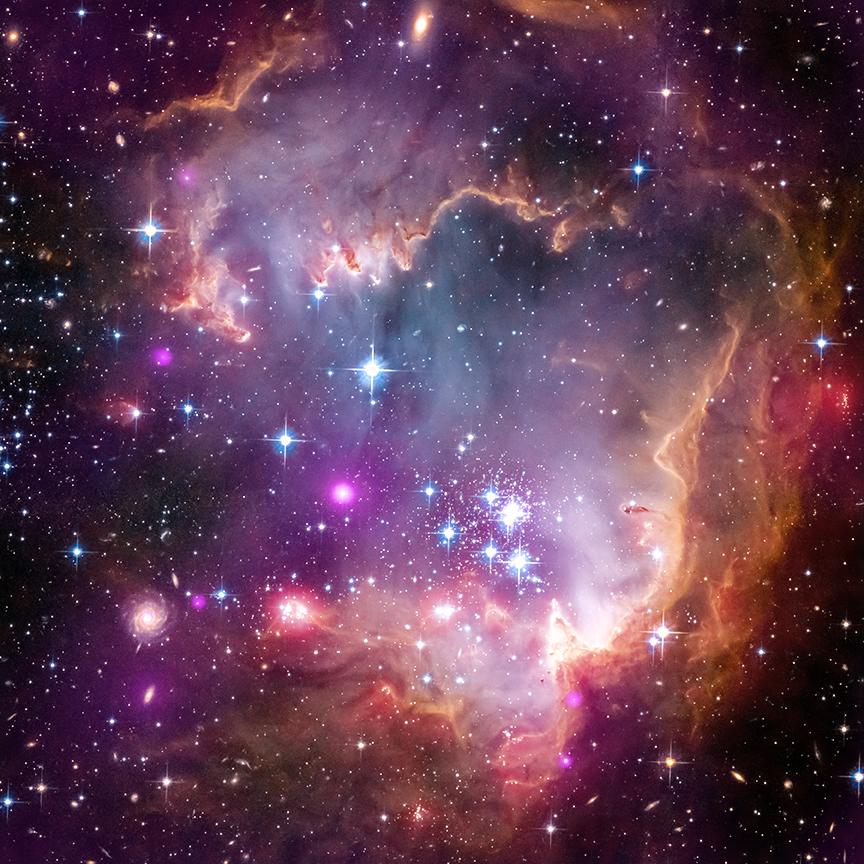 X-ray: NASA/CXC/Univ.Potsdam/L.Oskinova et al; Optical: NASA/STScI; Infrared: NASA/JPL-Caltech