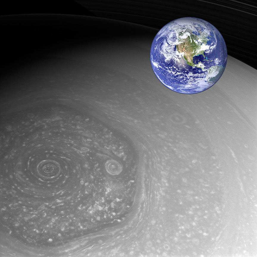 Saturn-Hexagon-Cassini-with-Earth