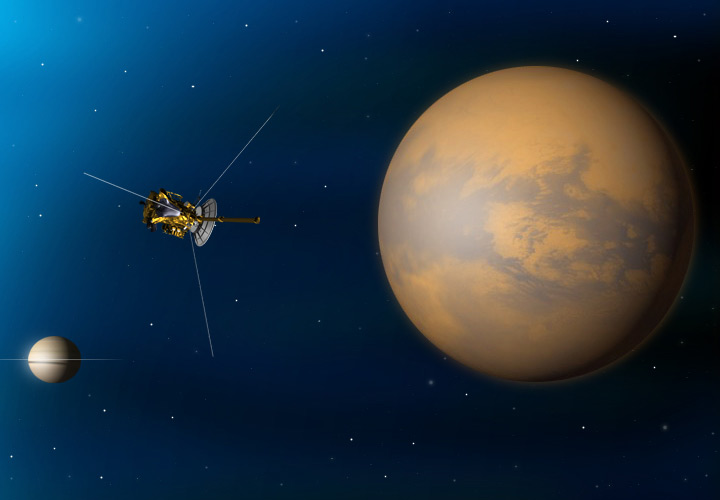NASA's Cassini Spacecraft Flies by Titan