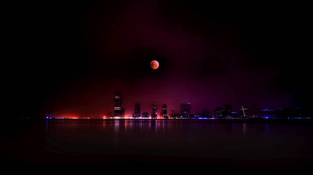 December 2010 Lunar Eclipse over New Jersey. Image Credit: Steve Kelly