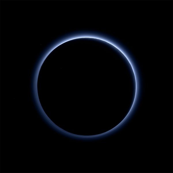 Stunning Blue Haze Discovered Surrounding Pluto