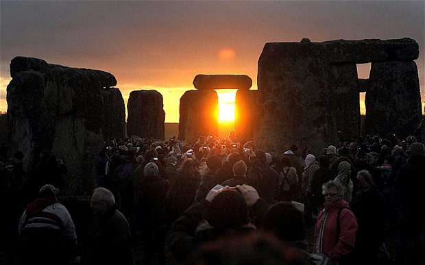 Stonehenge, England during the winter solstice. Via: www.telegraph.co.uk