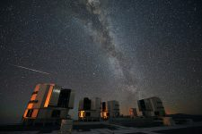 The 2010 Perseids over the European Southern Observatory's (ESO) Very Large Telescope (VLT)