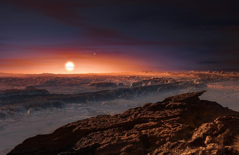 Artist's depiction of Proxima Centauri b's surface. Credit: ESO, M. KORNMESSER