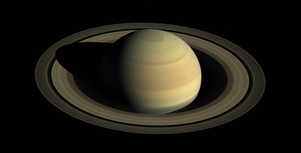 Saturn's Northern Hemisphere photographed in 2016. Image credit: NASA/JPL-Caltech/Space Science Institute