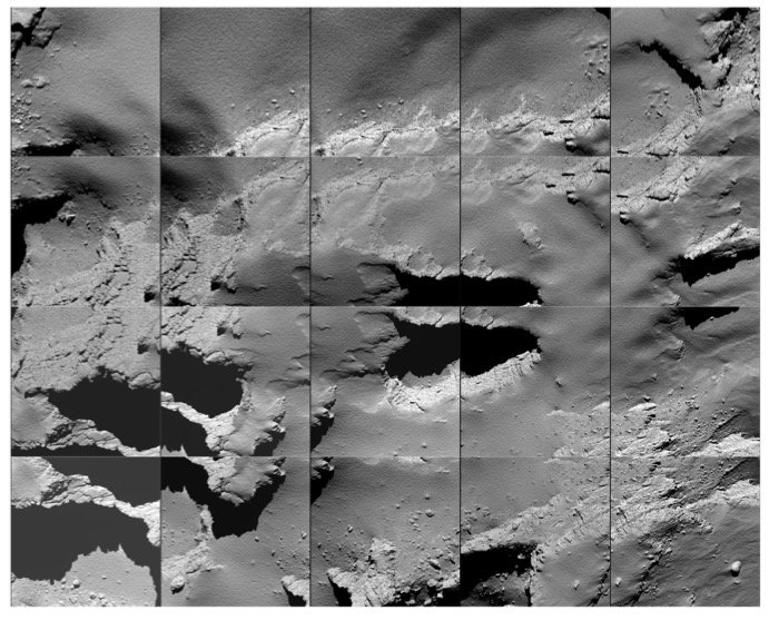 Image from Rosetta of its final landing site on the comet's surface. Credit: ESA/Rosetta