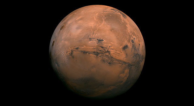 Mars, the fourth planet from the Sun. Credit: NASA/JPL